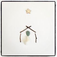 Away in a manger card 👼🏻 Sea Glass, Drop Earrings, Teaching, Unique, Beach, Crafts, Jewelry, Design, Jewlery