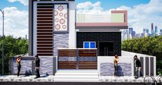Elevation is a view of one side of a building. It plays main role in the building. In the elevations, mostly we sees ground flo. Sweet Home Design, Best Modern House Design, Duplex House Design, Single Floor House Design, House Front Design, Small House Design, Front Elevation Designs, House Elevation, 30x50 House Plans
