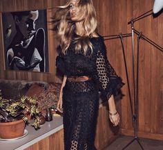 black lace | bohemian | sexy