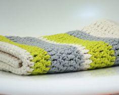 Modern Crochet Baby Blanket Organic Cotton by FoxAndRebel on Etsy, $129.00