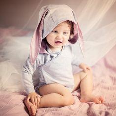 BODY DŁUGI RĘKAW - KRÓLIK - DIAMENTOWEbySysia - Body dla niemowląt