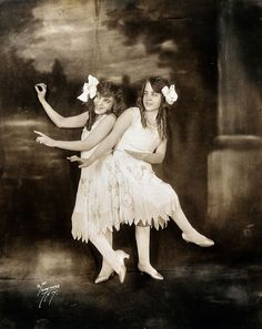 Violet & Daisy Hilton, also known as the San Antonio Siamese Twins and the Hilton Sisters.