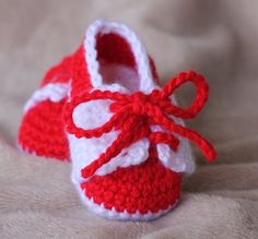 Crochet Baby Booties  Little Sport Saddle Shoes  by TheBabyCrow