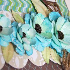 watercolor paper flower embellishments