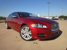 2012 Jaguar XJL in Caviar Red with Truffle-Ivory Interior at Park Place Jaguar Plano