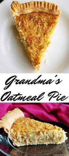 Recipes from grandmas just have to be good! This is a great recipe for oatmeal pie from a friend's grandma. It is loaded with oatmeal and coconut, but even coconut haters love it! You have to try it!