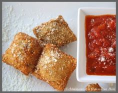 Okay, here it is! This is so exciting for me, I never imagined being able to enjoy toasted ravioli again. Not only is the toasted ravioli in the above photo gluten-free, but it is also allergy-friendly too! This post is now linked to a great series that the lovely Jenn (a chemist!) over at Jenn