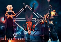 Carmen Dell'Orefice, Chris Brown, Crystal Renn, and Soo Joo Park for Philipp Plein