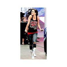 WWE ❤ liked on Polyvore featuring aj lee