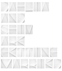 Folded paper typeface from Daniella Spinat | Typography. Typography News. TypeNeu.