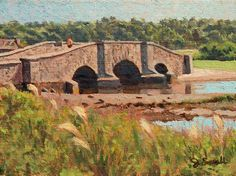 """""""Old Stone Bridge,"""" Jonathan Small, 2016, oil on linen mounted on panel, 6 x 8"""", collection of the artist."""