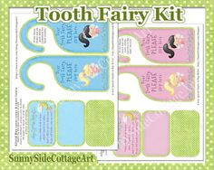 Tooth Fairy Kit tiny letter from tooth by SunnysideCottageArt, $4.99