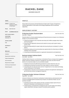 12 Best Business Analyst Resume Samples Images Business