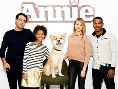 Star Tracks: Friday, December 5, 2014 | DOG DAYS | The cast of Annie – Bobby Cannavale, Quvenzhané Wallis, Cameron Diaz, Jamie Foxx and yes, even their four-legged costar Marty – promote the upcoming big-screen remake at the Crosby Hotel on Thursday in N.Y.C.