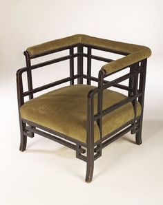 401: An Anglo-Japanese ebonised tub chair, probably E. : Lot 401