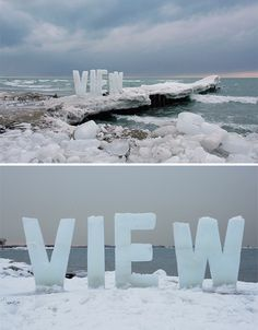 Temporary Legacy: Large-Scale Ice Typography Installations