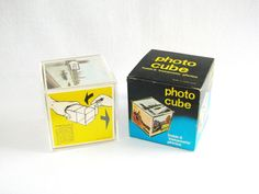 Vintage Photo Cube Instamatic Photo Holder by HipCatRetroVintage