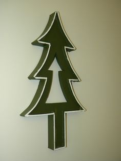 Diy christmas canvas silhouette diyeasycrafts do it diy christmas tree decoration can be displayed on wall or self standing solutioingenieria Choice Image
