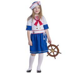 Dress Up America White & Blue Sailor Girl Dress-Up Set - Toddler & Kids Sailor Costumes, Girl Costumes, Sailor Collar, Girls Dress Up, Cool Sweaters, Dress With Bow, Buy Dress, Sweater Outfits, Toddler Girl