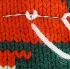 How to: A Twist on The Duplicate Stitch  - Stitch and Unwind