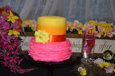 Tropical Wedding cake by Frost Dessert Shoppe in Baden ON
