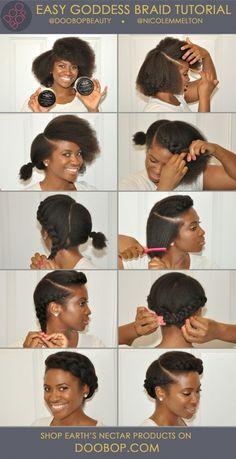 28. #Goddess Braid - 67 #Crushworthy Natural Hair #Ideas from Pinterest ... → Hair #Small