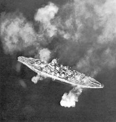USS Pennsylvania (BB-38) bombarding Guam, 20 July 1944