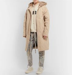 Fear of God - Faux Fur-Lined Cotton-Canvas Hooded Parka Hooded Parka, Oversized Coat, Cotton Canvas, Fashion News, Work Wear, Hoods, Faux Fur, Raincoat, Sweatshirts