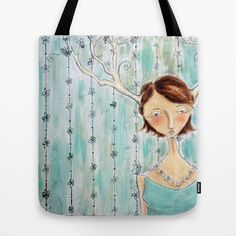 Fawn Tote Bag by Allison Weeks Thomas - $22.00