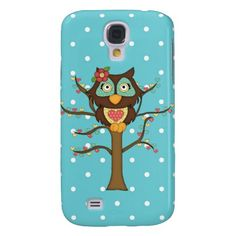Cartoon Owl Samsung Galaxys4 Barely there case Samsung Galaxy S4 Cover