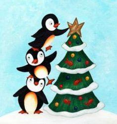 free penguin clip art image christmas penguin with santa. Black Bedroom Furniture Sets. Home Design Ideas