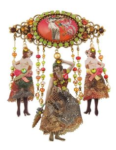 """Michal Negrin Hair Brooch from her """"20th Century"""" Collection"""