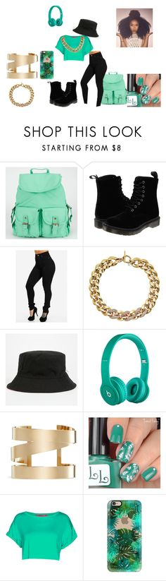 """""""Just being A girl"""" by anayawhite13 ❤ liked on Polyvore featuring beauty, Dr. Martens, Michael Kors, Beats by Dr. Dre, Isabel Marant, Boohoo and Casetify"""