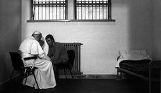 Blessed Pope John Paul II forgiving the man who shot him.