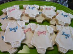 Gender Reveal Cookies treats