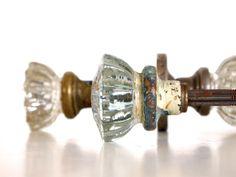 glass door knobs on doors. antique crystal door knobs set of four salvage by gypsyfolk, $40.00 glass on doors