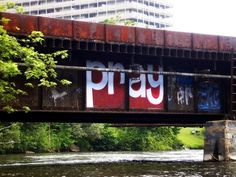 Tressel over the Huron River, Ann Arbor, Michigan.
