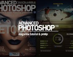 Tutorial commissioned by Advanced Photoshop Magazine, Issue 113. The tutorial takes the reader through how to design for web combining photographic assets and user interface. The issue was published in september 2013 world wide.
