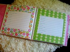 DIY Baby Book - Love this - Much better than those cheesy ones you can buy.  They're always ordered incorrectly or have questions that do not make sense for your family.