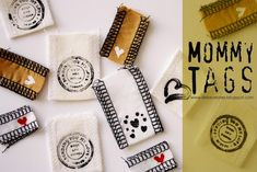 Make DIY pretty tags for special homemade clothing