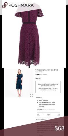 J.crew grosgrain lace dress Excellent condition J. Crew Dresses