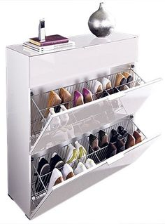 15 Smart Storage Rack Design Ideas For Your Small Home Do you have a small house that doesn't have storage space for your object? Because the storage space in our small house must be less … Shoe Storage Modern, Shoe Storage Design, Shoe Storage Solutions, Closet Shoe Storage, Diy Shoe Rack, Shoe Storage Cabinet, Rack Design, Ikea Storage, Smart Storage