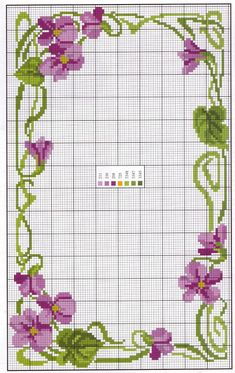 Cross stitch Embroidery Pattern for Tablecloth, Napkin. Cross Stitch Boarders, Cross Stitch Flowers, Cross Stitch Charts, Cross Stitch Designs, Cross Stitching, Cross Stitch Embroidery, Embroidery Patterns, Cross Stitch Patterns, Stitch Pictures