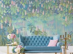Abstract Hand Painted Flowering Branch and Vine Wallpaper Wall Mural, Abstract Shabby Hanging Vine Forest Wall Mural Wall Decor 3d Wallpaper Flower, Wallpaper Wall, Paper Wallpaper, Self Adhesive Wallpaper, Custom Wallpaper, Peel And Stick Wallpaper, Scenic Wallpaper, Cleaning Walls, Smooth Walls