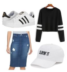 """""""Not Sure"""" by jadecrain on Polyvore featuring Jennifer Lopez, SO and adidas"""