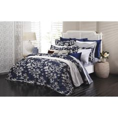 Crane Floral Sateen Cotton 3-piece Duvet Cover Set Cheap Bed Linen, Cheap Bed Sheets, Cheap Bedding Sets, Luxury Bedding Sets, King Comforter Sets, Duvet Bedding Sets, Queen Duvet, Crane, Blue Duvet