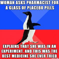 I was waiting in line at the pharmacy, when I heard this conversation
