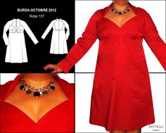 Burda 10 2012 137  Bettikou: Rouge passion