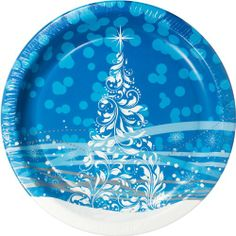 Pretty Christmas paper plates  sc 1 st  Pinterest & Great paper Christmas plates! | Stylish paper plates and napkins ...