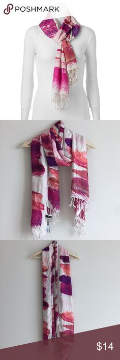 Apt. 9® Brushstrokes Oblong Scarf 🌷Please Read the description! Thanks!🌷  Brand new with tag Gift from a friend. Need to find new home for it.  Color may be slightly different bcz of lighting  🌷Price is FIRM unless bundled 🌷NO Trades         🌷NO Holds       🌷All sales are final Welcome product-related questions! You are responsible for your size. Apt. 9 Accessories Scarves & Wraps